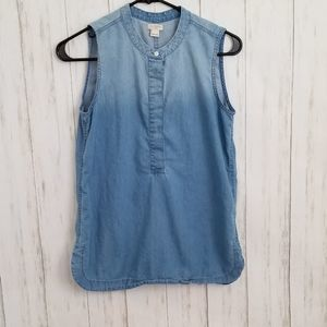 J.Crew Factory Ombre Chambray Popover